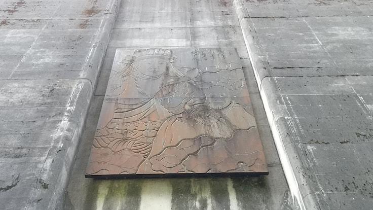 黒谷の雪崩防護壁